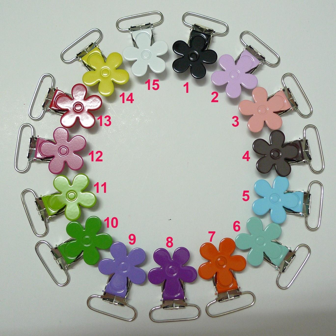 25pcs Flower shape Suspender Clips in yiwu markets