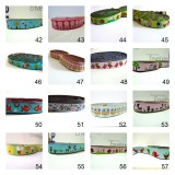 10meters 16mm European Dog Collar Jacquard Ribbon