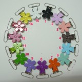25pcs Flower shape Suspender Clips in yiwu markets