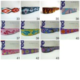 10meters 22mm European Dog Collar Jacquard Ribbon