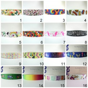 "12 Meters 1"" 25mm Sublimation Printing Suspender Elastic Webbing"