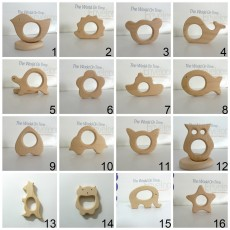 10PCS Organic Natural Newborn Beech Wooden Teether Toys