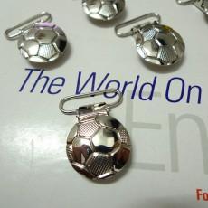 25pcs Soccer Football shape Suspender Clips