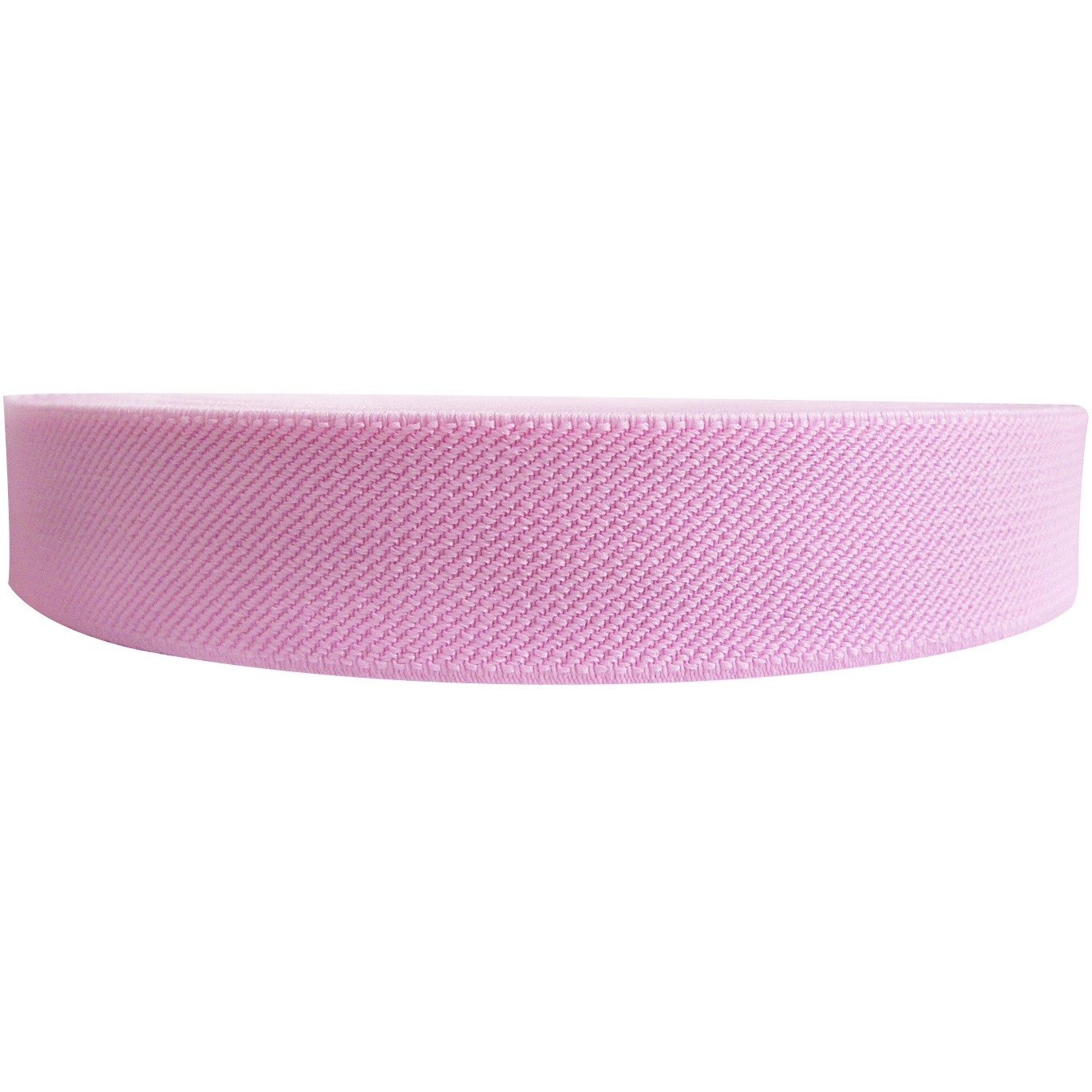 "12 Meters 1"" 25mm Solid Pink Color Suspender Elastic Webbing Wholesale"