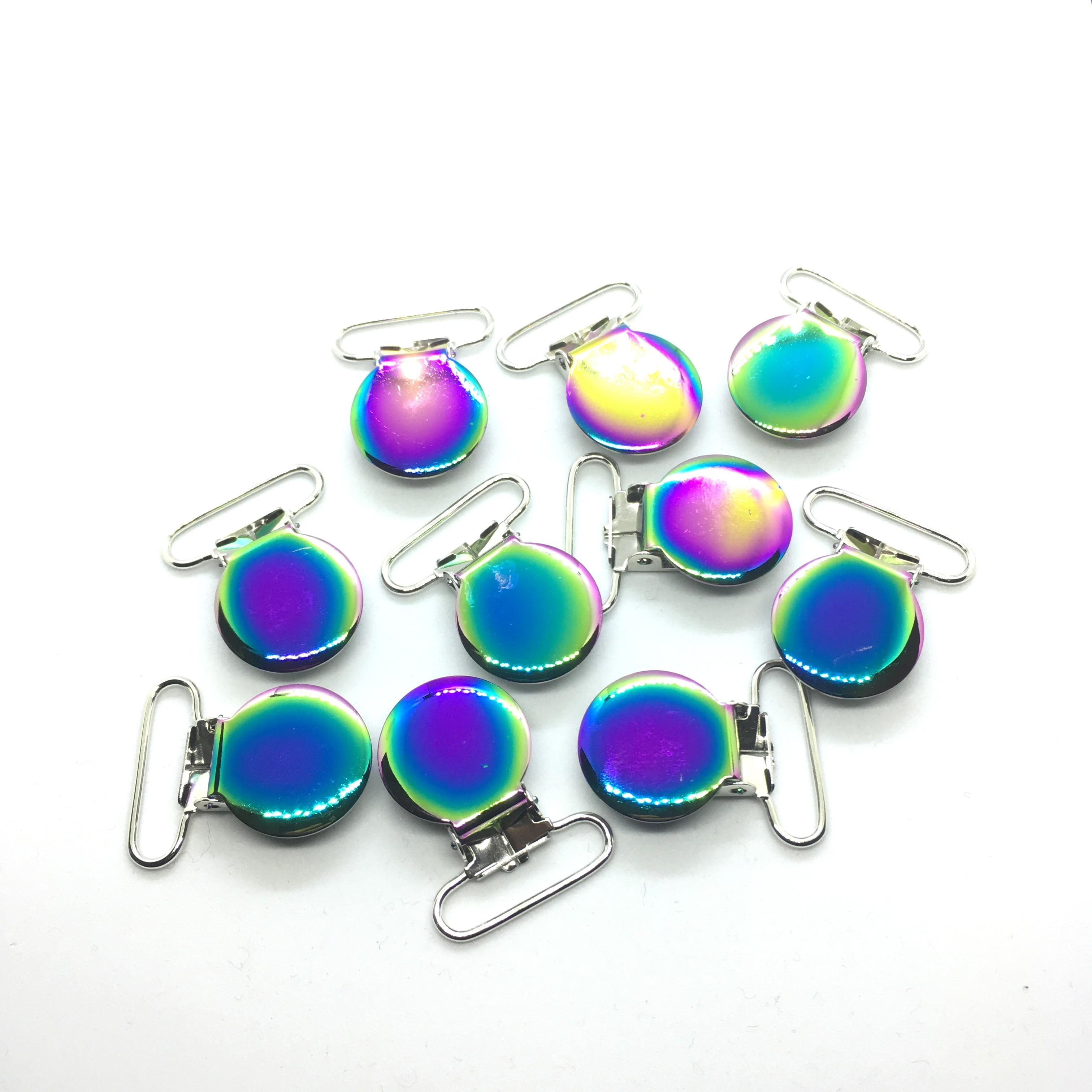 25pcs Rainbow Color Pacifier Clips