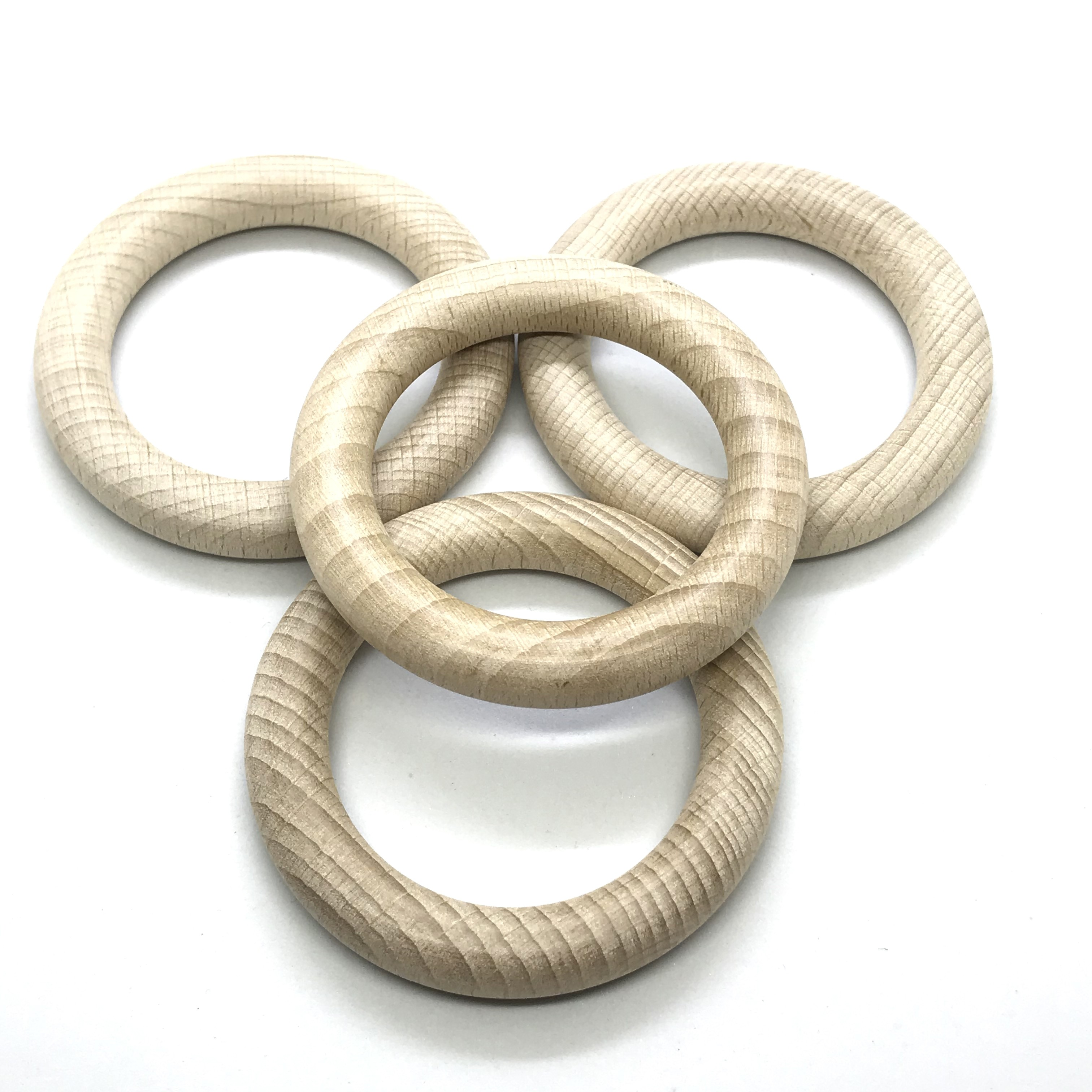 25pcs 7.0cm Organic Beech Wood Ring