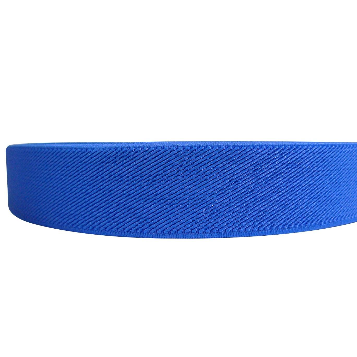 "12 Meters 1"" 25mm Solid Royal Blue Color Suspender Elastic Webbing Wholesale"