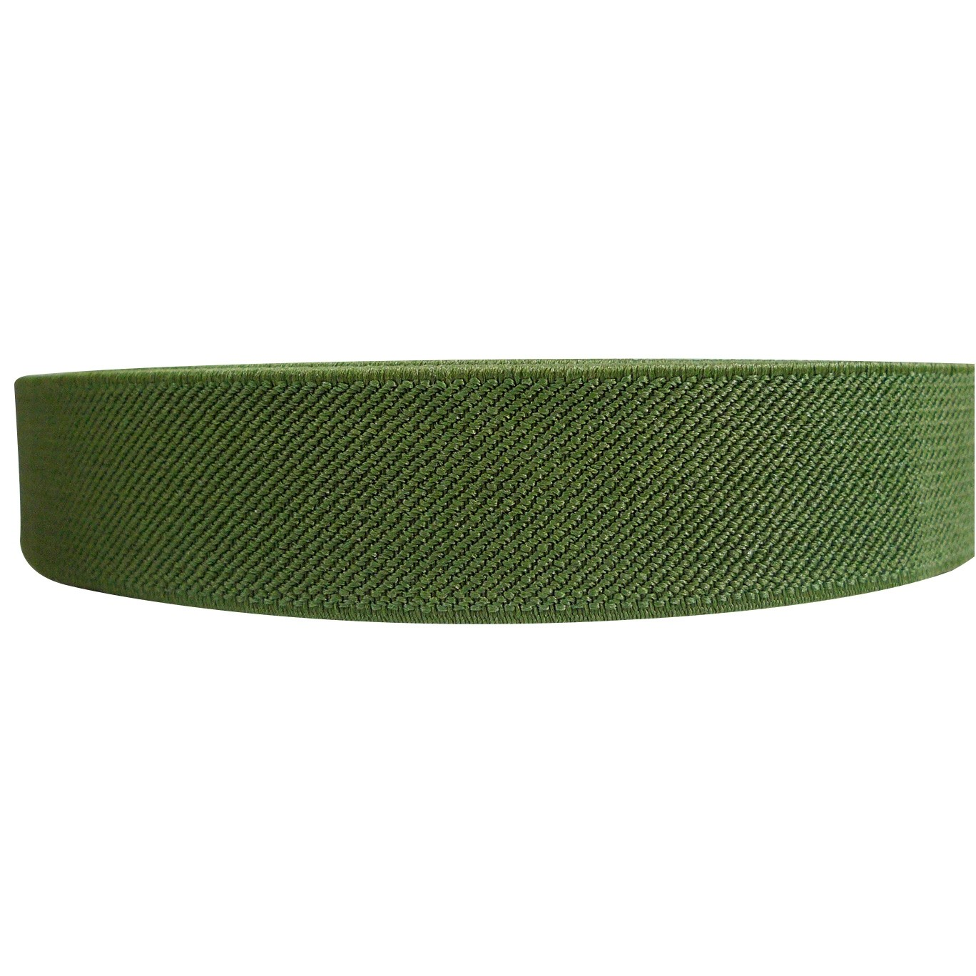 "12 Meters 1"" 25mm Solid Army Green Color Suspender Elastic Webbing Wholesale"
