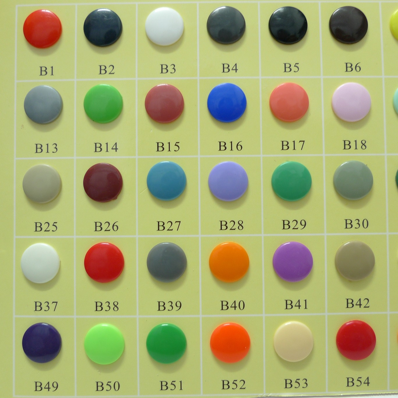 200 Sets Glossy Round KAM T5 Snap Buttons 60 Colors Available in Stock