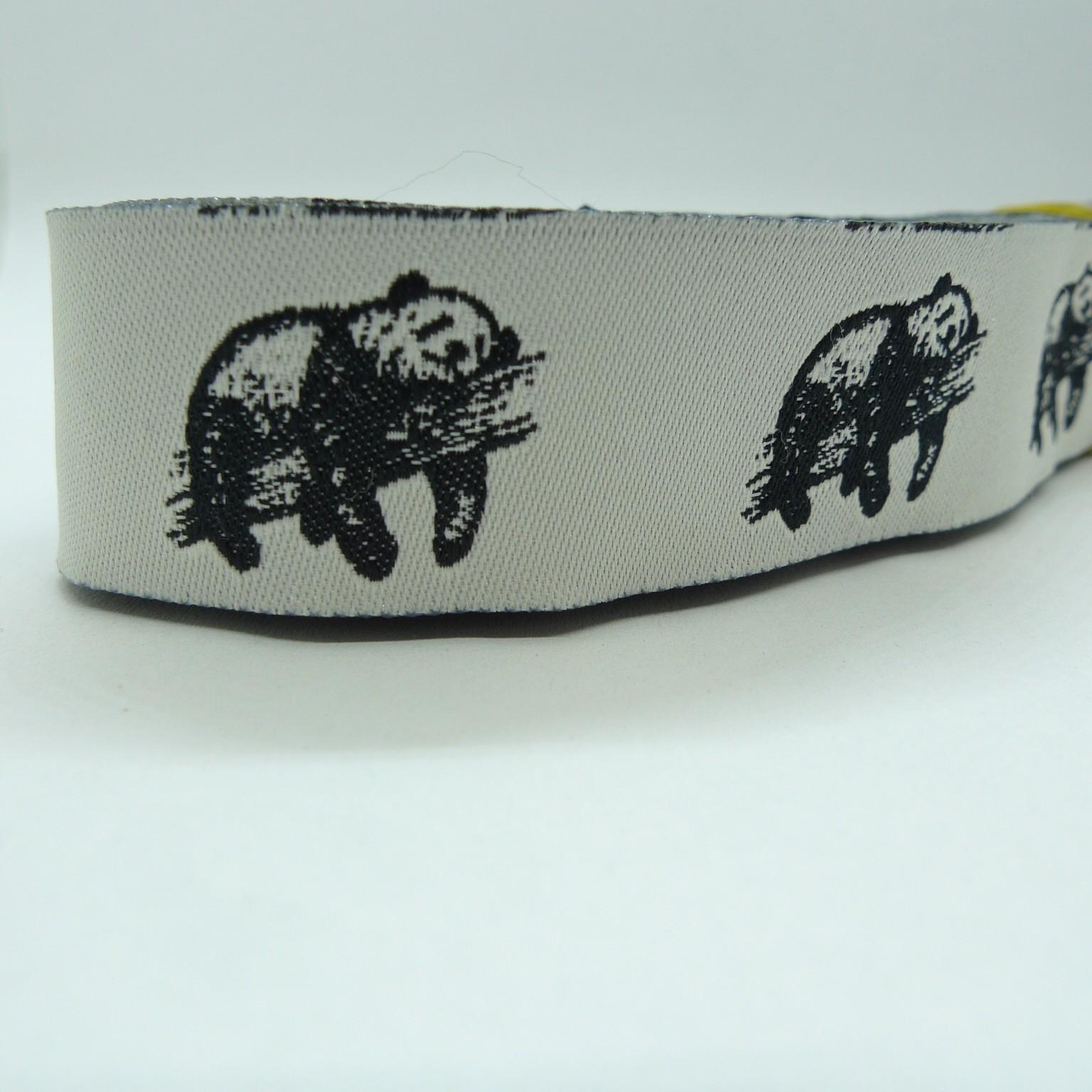 "10 meters 7/8"" 22mm Panda Pattern European Jacquard Ribbon"