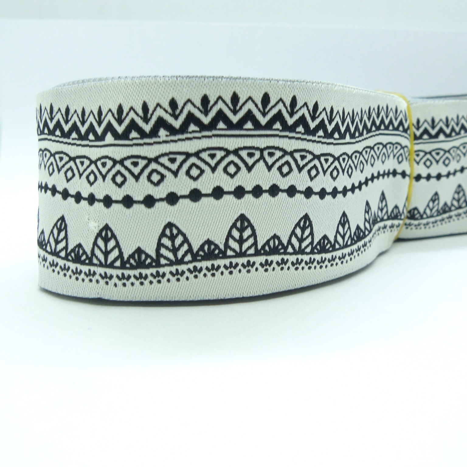 "10 meters 1.5"" 38mm Abstract Ribbon Pattern European Jacquard Ribbon"