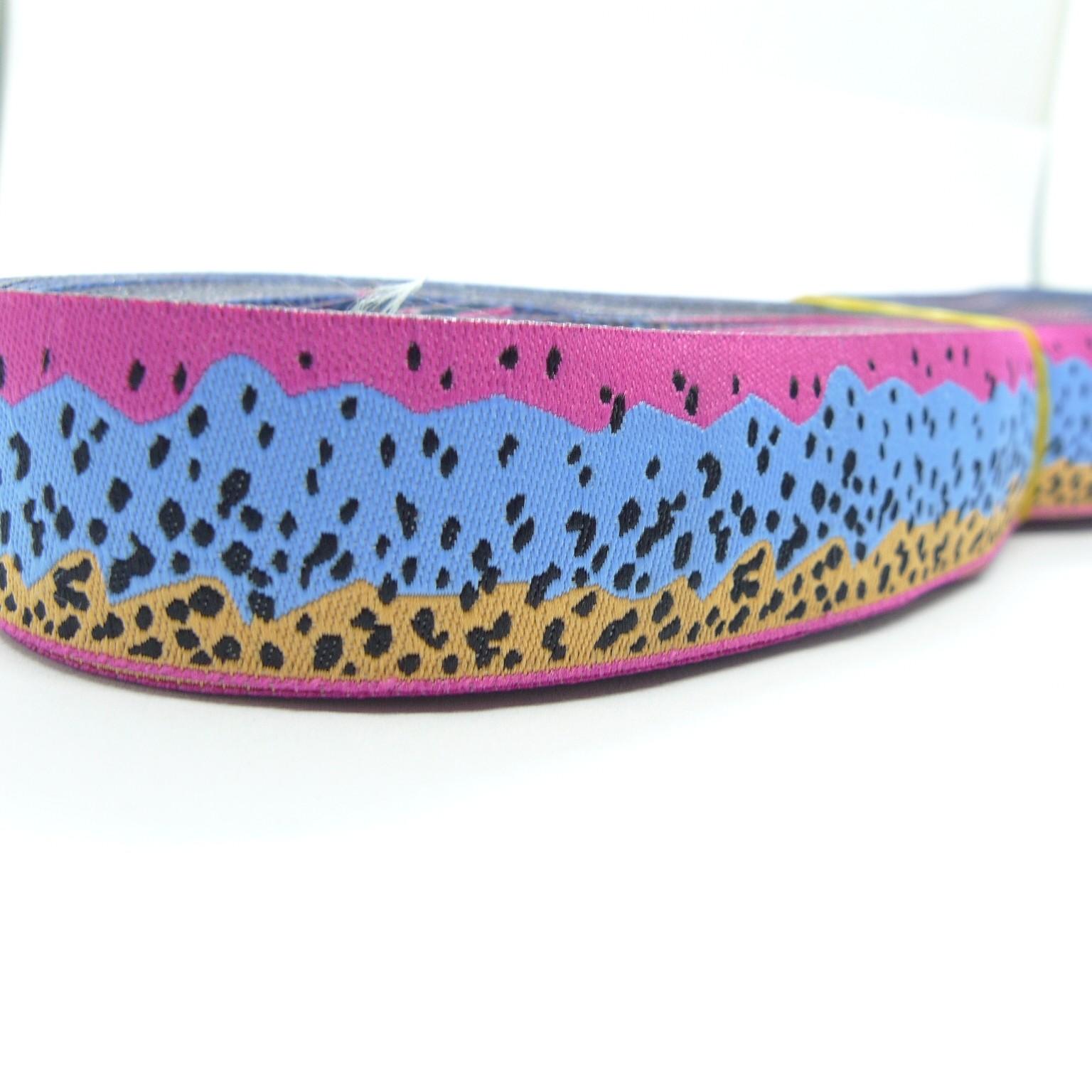 Rainbow Trout Pattern France Jacquard Woven Ribbon Wholesale Yiwu China