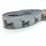10 Meters Elk and Swedish Vallhund Jacquard Ribbon
