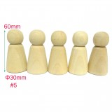 #5 30pcs Large Male Wooden Peg Doll Family DIY Supplies China