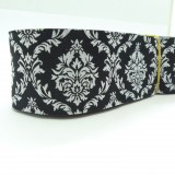 10meters 38mm Damask Design Black Tone European Jacquard Ribbon