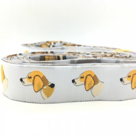 "10 meters 7/8"" 22mm Beagle Dog European Jacquard Ribbon For Dog Collar"