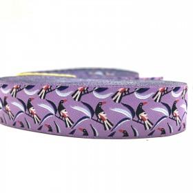 "10 meters 7/8"" 22mm Magpie Birds European Jacquard Ribbon For Dog Collar"