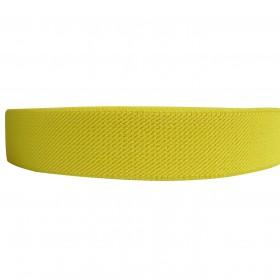 "12 Meters 1"" 25mm Solid Yellow Color Suspender Elastic Webbing Wholesale"