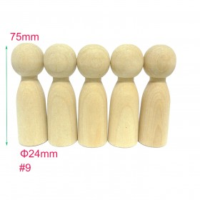 #9 30pcs Large Male Wooden Peg Doll Family DIY Supplies China