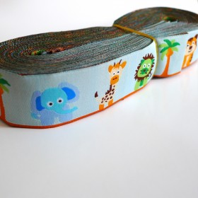 10meters 28mm Elephant Pattern European Dog Collar Jacquard Ribbon
