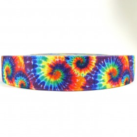 "12 Meters 1"" 25mm Sublimation Printing Tie Dye Suspender Elastic Webbing"