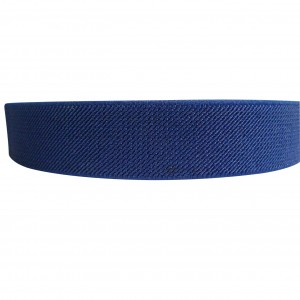 "12 Meters 1"" 25mm Solid Navy Blue Color Suspender Elastic Webbing Wholesale"
