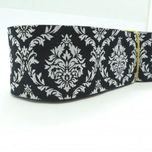 10meters 38mm Damask Design Black Tone European Jacquard Ribbon