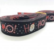 "10 meters 7/8"" 22mm Santa Claus Merry Christmas European Jacquard Ribbon For Dog Collar"