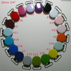 "25pcs 20mm 3/4"" Round Suspender Clips"