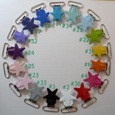 25pcs 1'' 25mm Enamel Star Suspender Clips