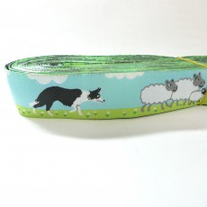 Border Collie Pattern Jacquard Ribbon