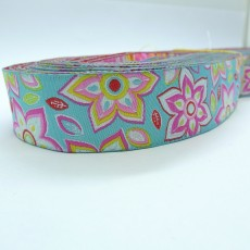 "10meters 7/8"" 22mm Splendid Flower European Jacquard Ribbon"