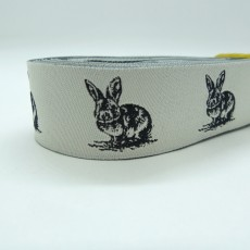 "10 meters 7/8"" 22mm Bunny Pattern European Jacquard Ribbon"
