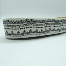 "10 meters 7/8"" 22mm Abstract Art Ribbon Pattern European Jacquard Ribbon"
