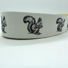 "10 meters 7/8"" 22mm Squirrel Pattern European Jacquard Ribbon"